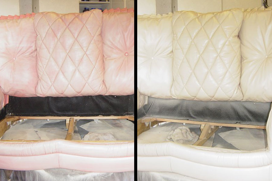 Before After Color Change Sofa
