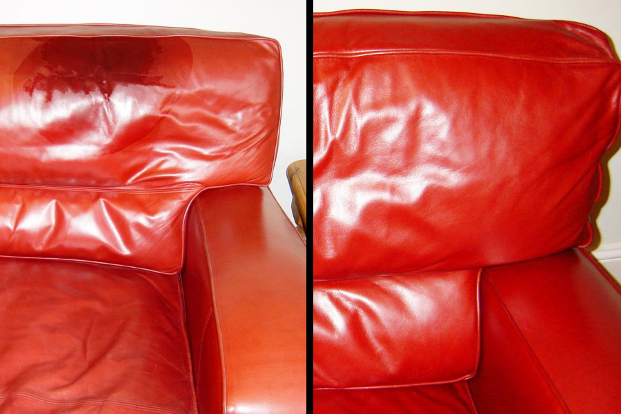 Before After Grease On Chair