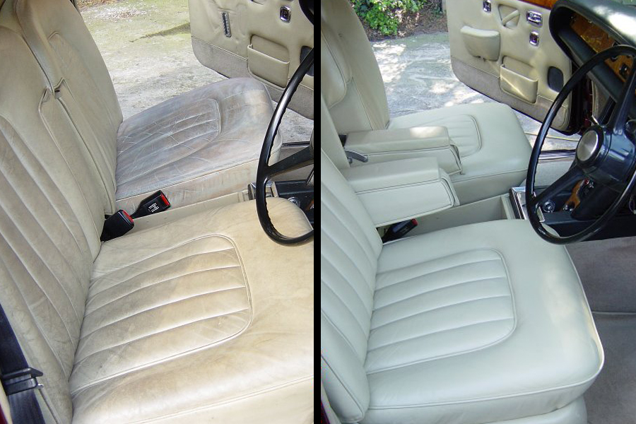 Before After Rolls Royce Seat