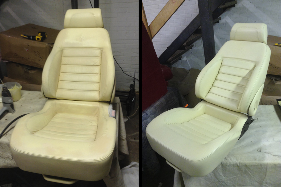 Before after car seat How to clean scuff marks off car interior