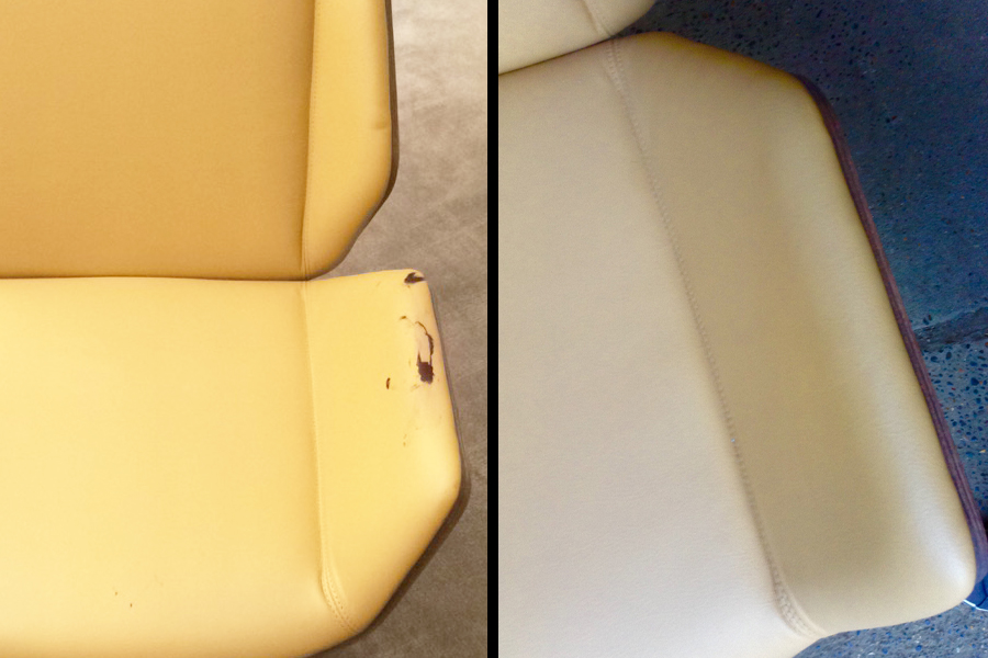 Before After Ink Removal Leather Seat
